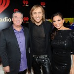 Elvis and Carolina with David Guetta at the iHeart Radio Music Festival