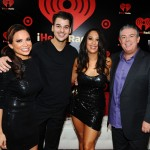Elvis and Carolina with Rob Karsdashian and DWTS Partner Cheryl Burke at the iHeart Radio Music Festival