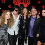 Elvis and Carolina with Steven Tyler at the iHeart Radio Music Festival