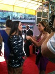 Oh, hi Aly, Olympic Gold medalist from the Fierce 5... thank you for letting me bombard you on the carpet...