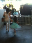 Not a good sign when little girls are running away from you.. shout out to my bff Patti in the background!